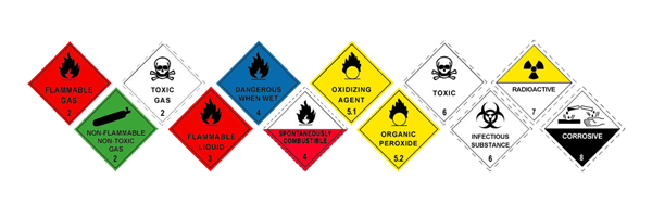 Dangerous goods for transport - the 9 classes explained with examples